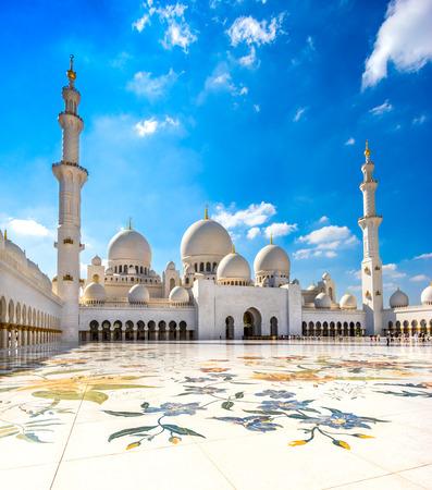 셰이크 자예드 모스크, 아부 다비, 아랍 에미리트 스톡 콘텐츠