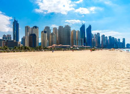 Skyscrapers in Dubai Marina. UAE Banco de Imagens