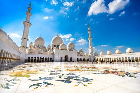 Sheikh-Zayed-Moschee, Abu Dhabi, Vereinigte Arabische Emirate Standard-Bild - 26890455