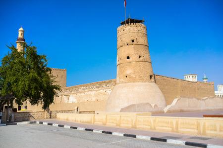 souk: Al Fahidi Fort (1787), home to the Dubai Museum and citys oldest building. Dubai, Uae. Editorial