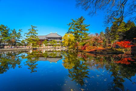 todaiji: Todai-ji temple in autumn, Nara, Japan. Editorial