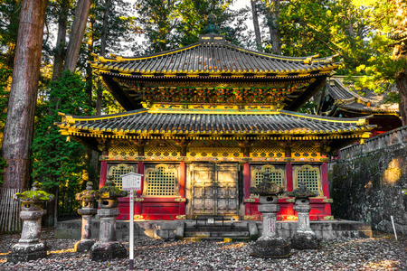 Toshogu Shrine at sunrise, Nikko, Japan.