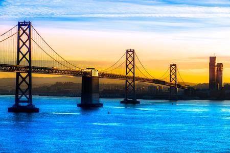 transamerica: San Francisco Bay Bridge, California, USA. Stock Photo