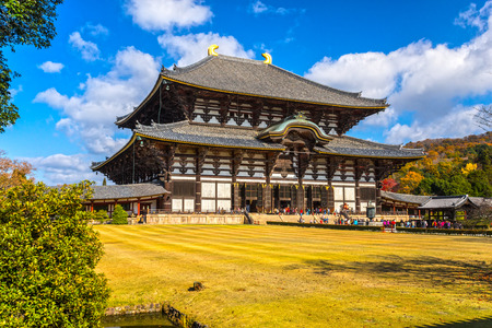 Todai-ji temple Main hall, Nara, Japan. Banco de Imagens