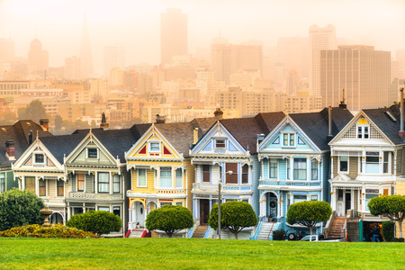 The Painted ladies of San Francisco, California, USA. photo