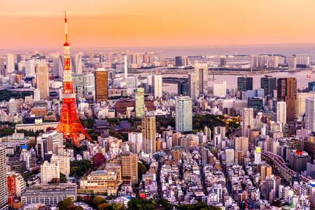 Ansicht von Tokyo Skyline Tokyo, Japan. Standard-Bild - 35600283