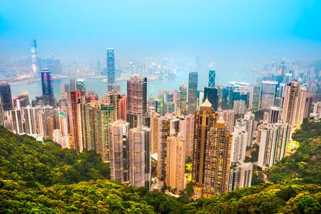 Panorama-Blick auf Skyline von Hong Kong. China. Standard-Bild - 35851986