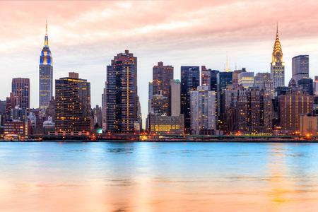 미드 타운 맨해튼의 스카이 라인, 뉴욕시. 미국.