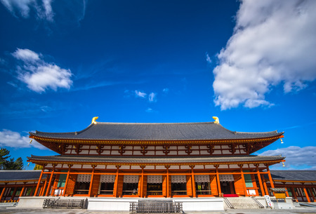 Yakushi-ji Temple in Nara, Unesco world Heritage site, Japan Редакционное