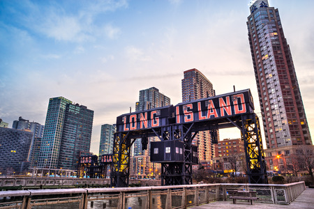Long Island Gebouwen, New York City. VS.