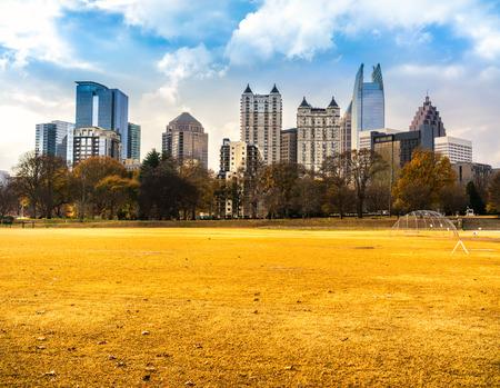 downtown: Skyline of downtown Atlanta, Georgia, USA