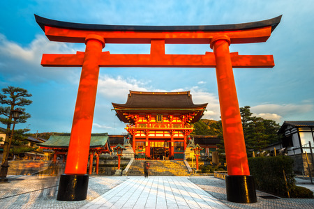 tourism: Fushimi Inari Taisha Shrine in Kyoto, Japan