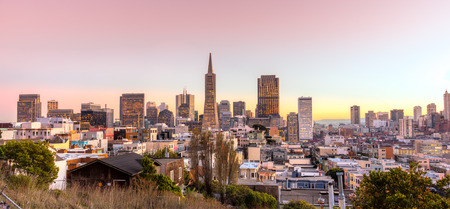 francisco: Downtown San Francisco at twilight, California, USA.