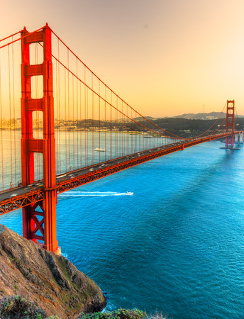west usa: Golden Gate Bridge, San Francisco, California, USA. Stock Photo