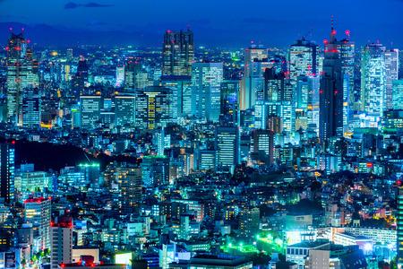 japan sunset: Tokyo skyline, Shinjuku,  Japan.