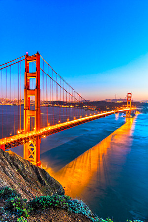 Golden Gate Bridge, San Francisco, California, USA. Banque d'images