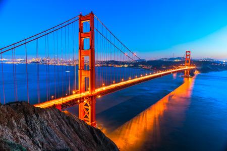 west gate: Golden Gate Bridge, San Francisco, California, USA. Stock Photo