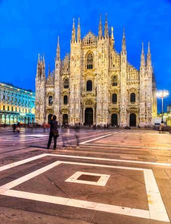 The beautiful Duomo of Milan, Italy. photo