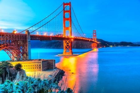 Downtown San Francisco at twilight, California, USA.