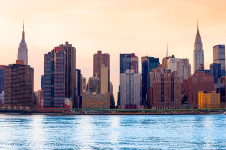 nyc: Midtown Manhattan skyline, New York City. USA.