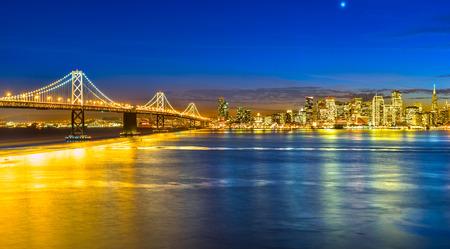 San Francisco skyline at night, California, USA.