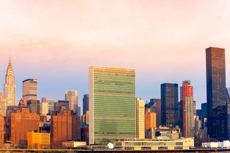onu: Midtown Manhattan skyline New York City. USA. Stock Photo