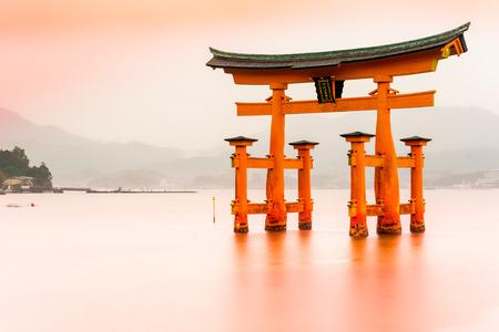 Miyajima The  famous Floating Torii gate Japan.