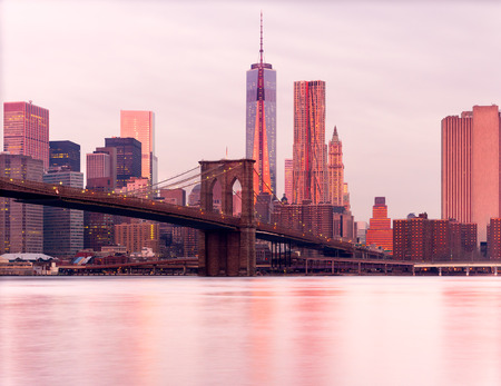 Manhattan au lever du soleil, New York City. USA. Banque d'images
