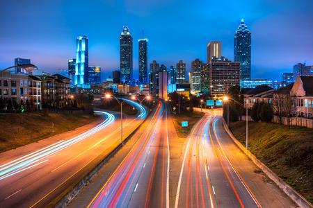 Skyline of downtown Atlanta, Georgia, USA 版權商用圖片 - 39962668