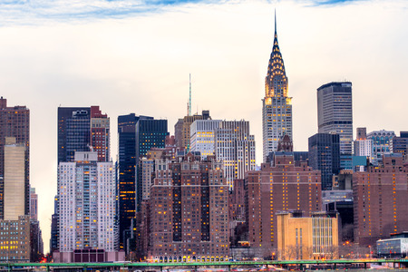 nyc skyline: Midtown Manhattan skyline, New York City. USA.