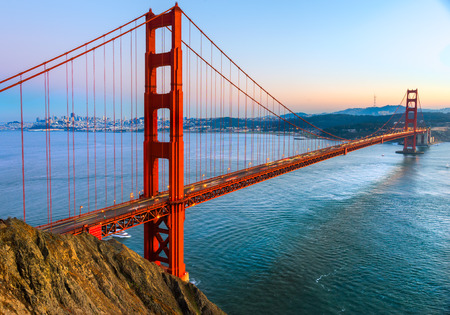 Golden Gate Bridge, San Francisco, California, USA. Imagens