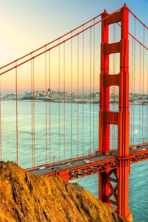 Golden Gate Bridge, San Francisco, California, USA. 스톡 콘텐츠