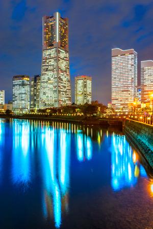 minato: Yokohama, Japan skyline at Minato Mirai waterfront district.