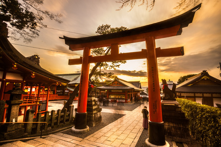 Fushimi Inari Taisha Shrine in Kyoto, Japan Stok Fotoğraf - 40851839