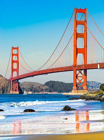 Golden Gate Bridge in San Francisco, California, USA.