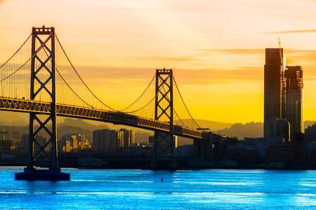 San Francisco Skyline bei Nacht, Kalifornien, USA. Standard-Bild - 46657981