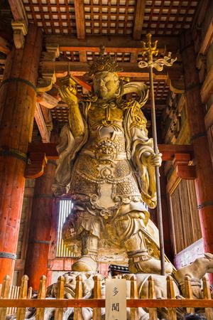 buddha statue: The Great Buddha (Daibutsu-Den) at Todai-ji temple in Nara, Japan.