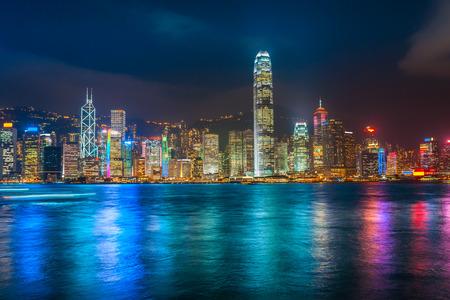 Panorama-Blick auf Skyline von Hong Kong. China. Standard-Bild - 46657482