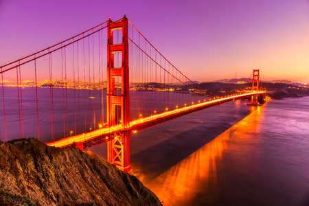 golden light: Golden Gate Bridge, San Francisco