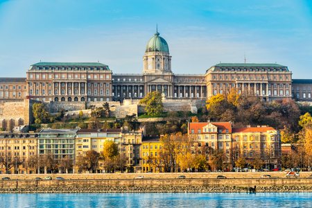 buda: view of Buda Castle in Budapest, Hungary