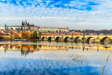 st charles: Charles Bridge, the Castle and St. Vitus Cathedral in Prague, Czech Republic