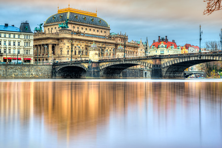 Praga, il Teatro Nazionale. Repubblica Ceca