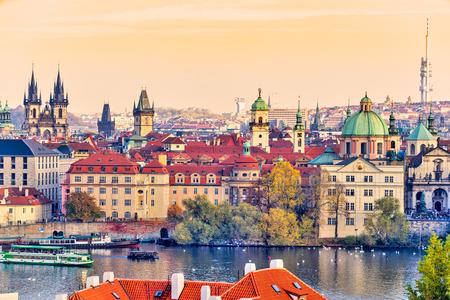 Prague Skyline. Czech Republic
