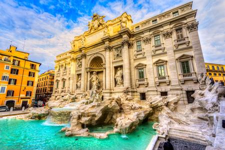 Rome, Trevi Fountain. Italy.