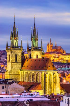 astronomic: Prague, Night View. Czech Republic Stock Photo