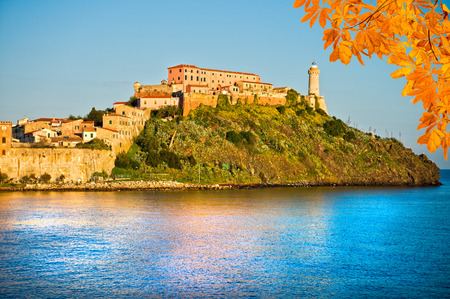 elba: View of Portoferraio, Elba Island, Italy.