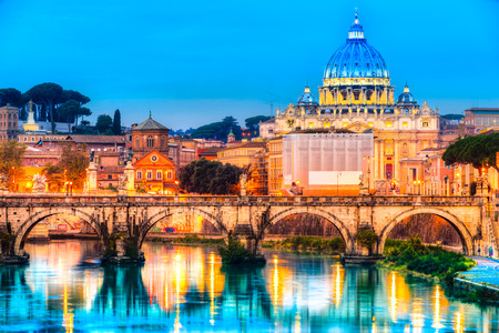 st  peter: Rome, Saint Angel Castle, St. Peter and Vatican.Italy. Editorial
