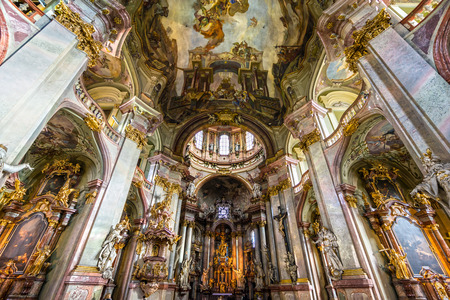 st charles: Prague, St. Nicholas Cathedral. Czech Republic Editorial