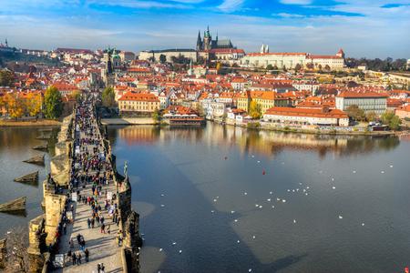 st charles: Prague, Charles Bridge and Mala Strana. Czech Republic