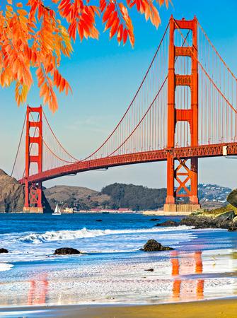 san: Golden Gate Bridge, San Francisco, California, USA. Stock Photo